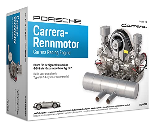 FRANZIS 67550 - Porsche Carrera Renn-Motor, hochwertiger Modell-Bausatz des 4-Zylinder Boxer-Motors,...