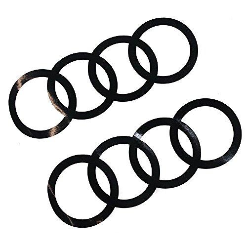Die Audi-Ringe aus Dekorfolie für's Auto