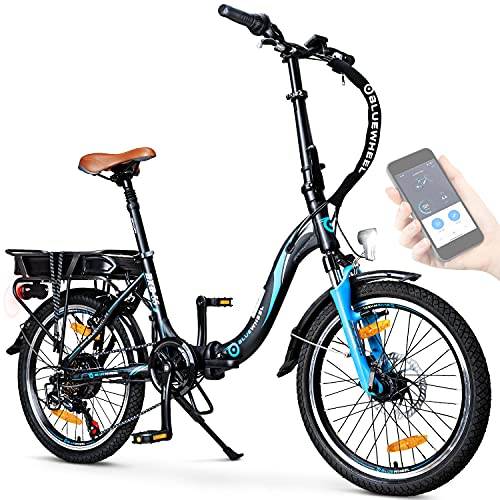 BLUEWHEEL 20' klappbares E-Bike I Deutsche Qualitätsmarke I Shimano 7 Gang-Schaltung I EU-konform...