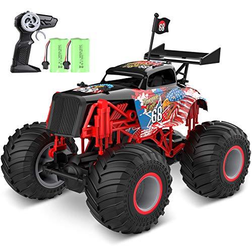 tech rc Monstertruck Ferngesteuertes Auto Off-Road 1:14 Truck 2 Akku 50+ Lange Laufzeit RC Car Buggy...