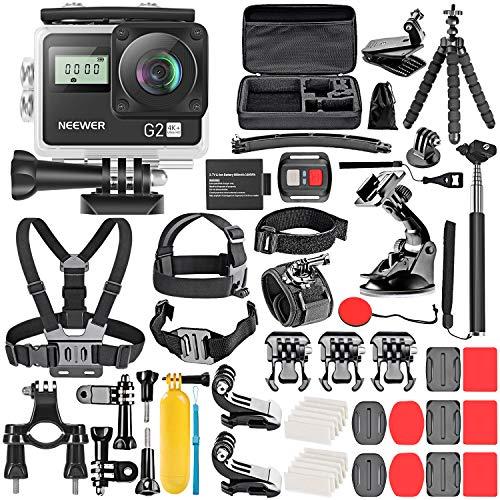 Neewer G2 HD 4K-Touchscreen Action-Kamera 12MP 4K/30FPS EIS 170 Grad Weitwinkel WiFi Sport Kamera mit...