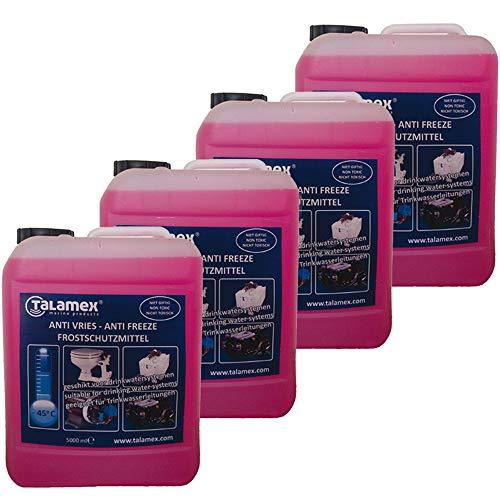 Bootsteile Brauer 4 x 5 Liter Talemex für Frostschutzmittel Trinkwassersysteme Motorkühlsysteme auf...