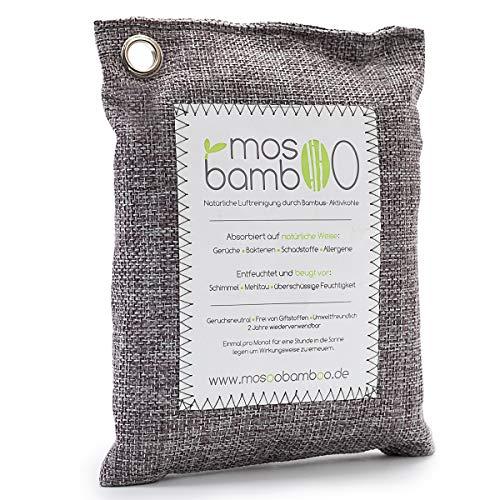 mosoobamboo Lufterfrischer cleanAir - 500g aus Bambus Aktivkohle - Natürlicher Geruchsentferner &...