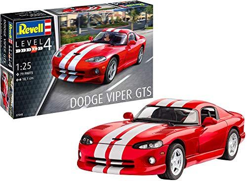 Revell 07040 12 Modellbausatz Dodge Viper GTS im Maßstab 1:25, Level 4, Multicolour
