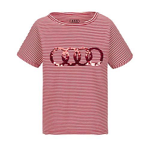 Aido-T-Shirt für Mädchen mit Pailetten-Logo