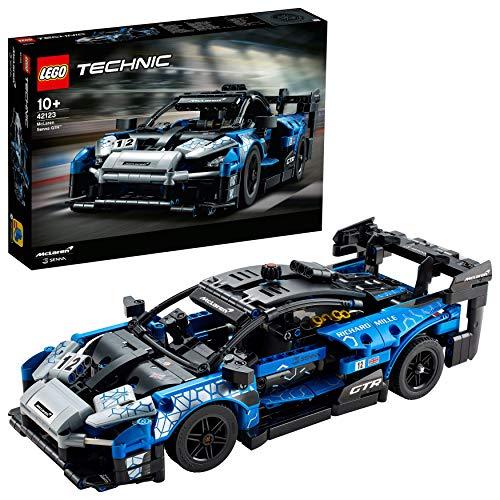 LEGO 42123 Technic McLaren Senna GTR Rennsportwagen, Fahrzeug Bausatz, Modell zum Sammeln