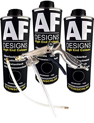 Alex Flittner Designs Steinschlagschutz/Unterbodenschutz schwarz 3x1kg überlackierbar + Unterbodenschutz...