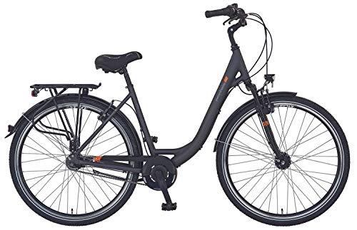 Prophete Unisex– Erwachsene GENIESSER e9.3 City E-Bike 28' Elektrofahrrad, schwarz matt, RH 48 cm