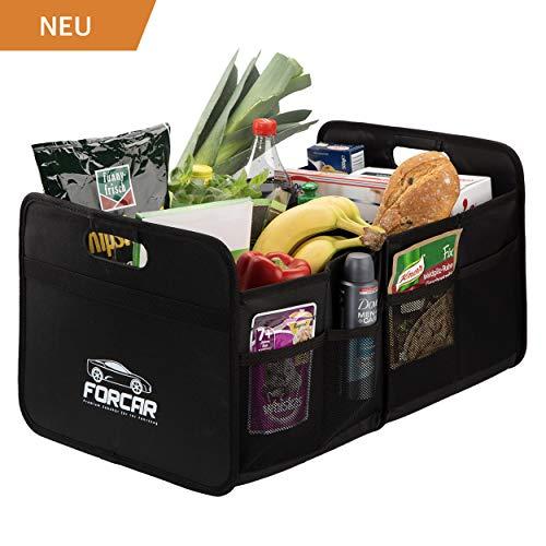 FORCAR Hochwertige Kofferraumtasche mit stabilen Böden, verstärkten Griffen und Klett. Klappbox...