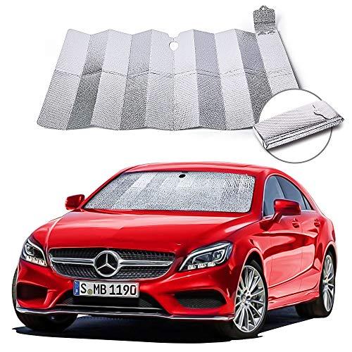 NIBESSER Sonnenschutz Auto Frontscheibe Windschutzscheibe Sonnenschutz Faltbar UV Schutz Sonnenblende...