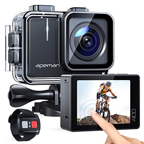 APEMAN Action Cam A100,Echte 4K 50fps WiFi 20MP Touchscreen Unterwasserkamera Digitale wasserdichte 40M...