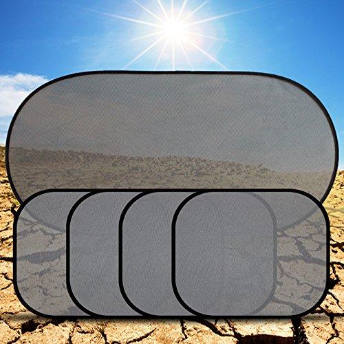 Fontee Baby 5 Stück Kinder Auto-Sonnenschutz, Selbsthaftende Sonnenblenden für Seitenscheiben und...