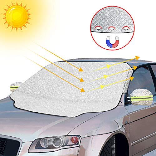 otumixx Frontscheibenabdeckung Auto Scheibenabdeckung Windschutzscheibe Abdeckung Magnet Fixierung...