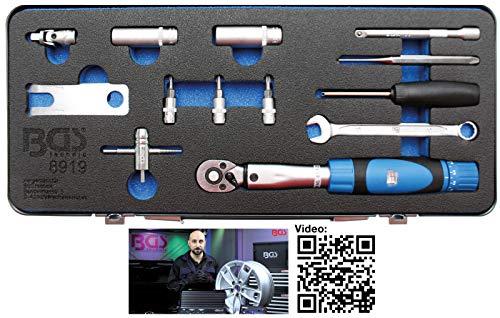 BGS 8919   Werkzeug-Satz für Reifendruck Kontrollsystem (RDKS)   13-tlg.
