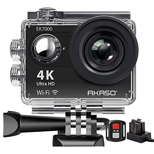 Action Cam,AKASO 4K WiFi Action Kamera/Unterwasserkamera 170°Ultra Weitwinkel Full HD Sports Kamera mit...