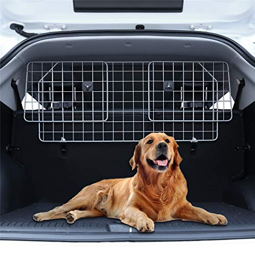 Hundegitter Auto Gepäcknetz, Trenngitter Kofferraum Hundeschutzgitter, Verstellbar Kopfstützen...