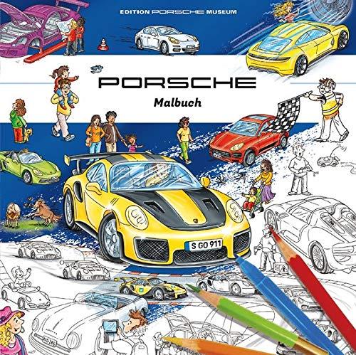 Porsche Malbuch für Kinder: ab 3 Jahre