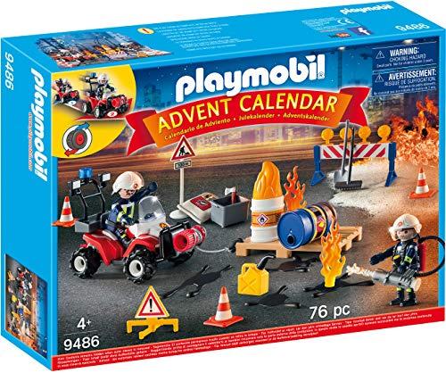 PLAYMOBIL Adventskalender 9486 Feuerwehreinsatz auf der Baustelle