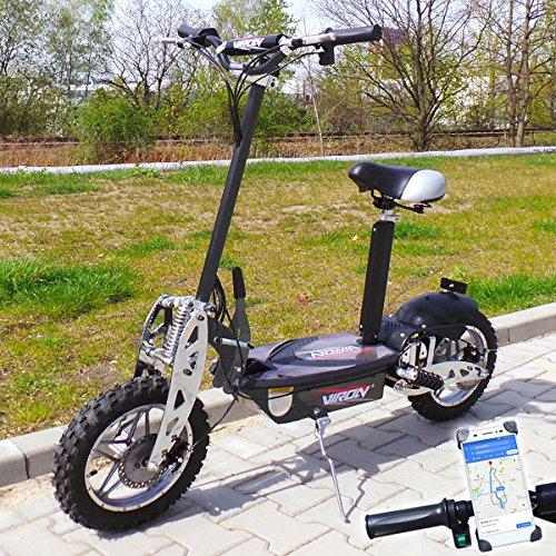 Viron Elektro Scooter 1000 Watt E-Scooter Roller 36V / 1000W Elektroroller V.7 (Carbon)
