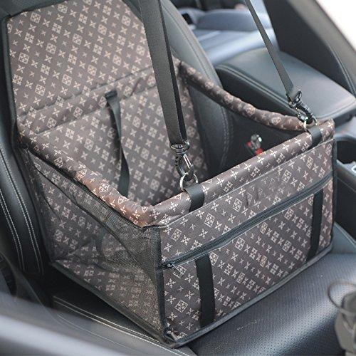 PETEMOO Hunde Autositz für Kleine Mittlere Hunde und Katzen, Atmungsaktive wasserdichte Sitzbezug mit...