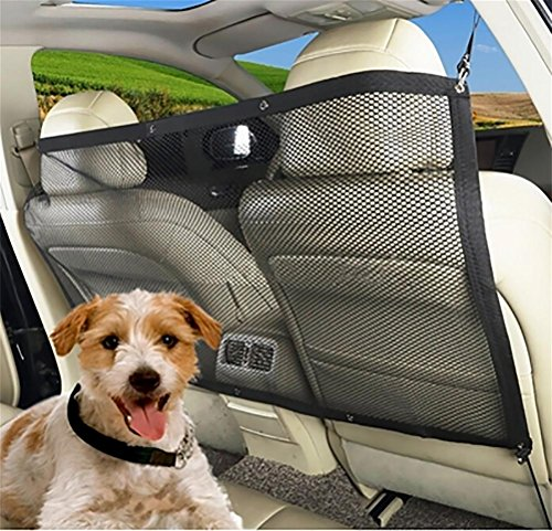 LOHUA Hunde Rücksitz Barriere Pet Sicherheit Netz Barrier, Auto Sicherheitsnetz Trennnetz zwischen...