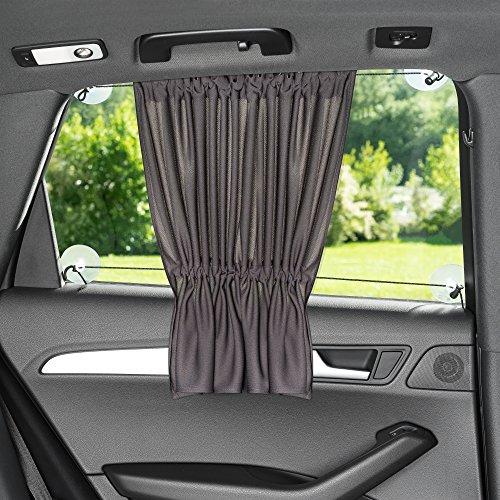 Sonnenschutz fürs Auto/Baby - mit Vorhang-Funktion für einfaches Auf- und Zuziehen - UV-Schutz...