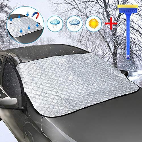 DEKINMAX Scheibenabdeckung Frontscheibenabdeckung Auto Windschutzscheibenabdeckung Magnetische Magnet...