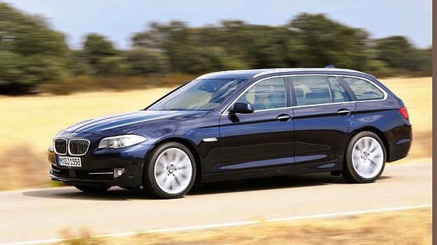 BMW 5er Toruing Exterieur dynamisch Seite