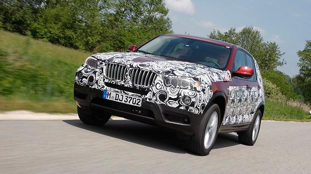 BMW X3 getarnt Exterieur Front Dynamisch
