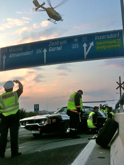 Christian Clerici Plymouth Roadrunner GTX Unfall