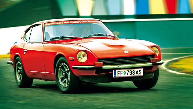 Datsun 240Z Exterieur Front dynamisch Zeitmaschine 1969