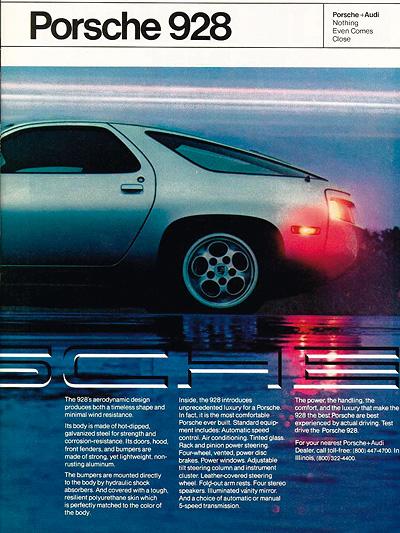 1977 Porsche 928 Zeitreise Anzeige