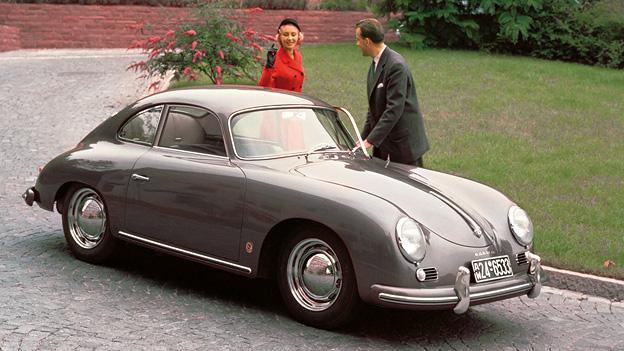 Zeitmaschinenn Saab 1949 Porsche 356