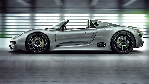 Porsche 918 Hybrid Exterieur Seite