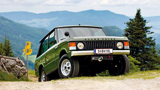1970 Zeitmaschine Range Rover Exterieur dynamsich Front
