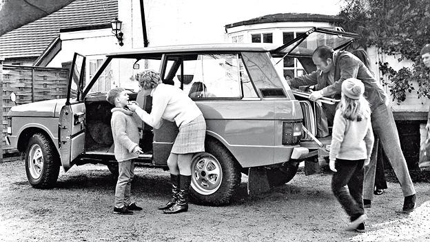 Das Jahr 1970 Range Rover Familie Werbung