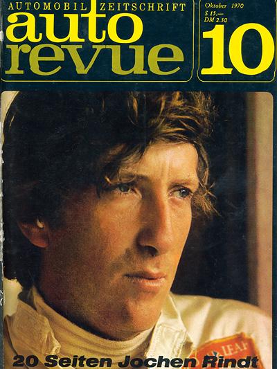 1970 Zeitmaschine Was noch geschah Jochen Rindt Autorevue