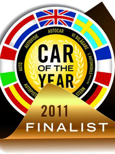 Car of the year emblem Logo Nissan Leaf