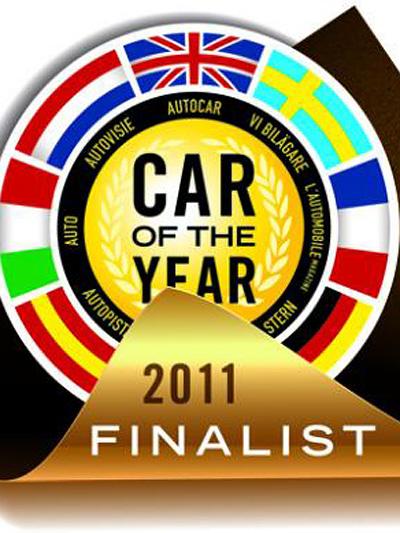 Car of the year emblem Logo Nissan Leaf