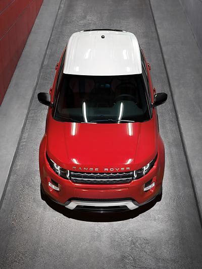 Land Rover Evoque Exterieur statisch Front Oben