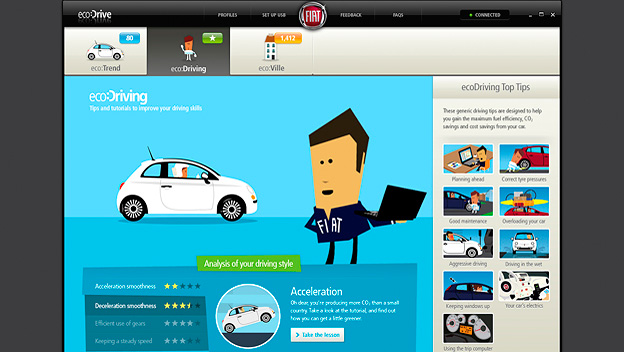 Fiat EcoDrive Softwareinterface