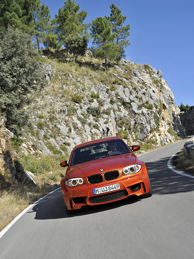 BMW 1er M Coupe Exterieur dynamisch