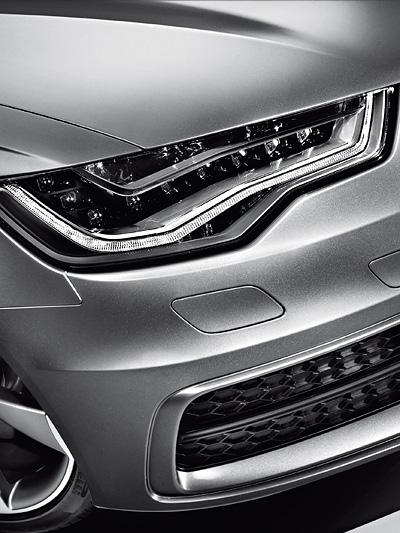 Audi A6 Statisch Exterieur Scheinwerfer Detail