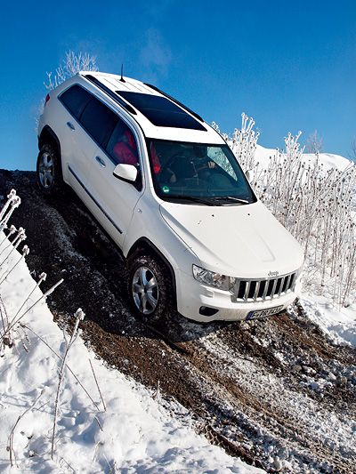 Jeep Grand Cherokee Dynamisch Exterieur Front Seite Offroad