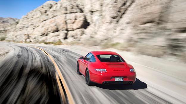 Porsche 911 GTS Exterieur Dynamisch Heck Coupé