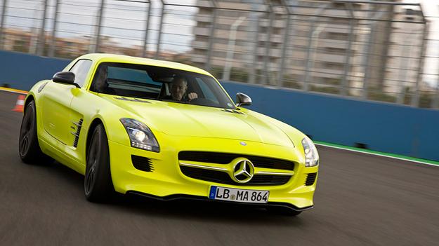 Mercedes Benz SL E-Cell Exterieur Dynamisch Front