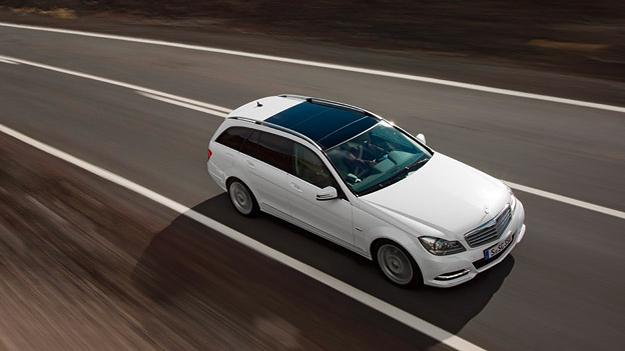 Mercedes Benz Cklasse Exterieur dynamisch Front oben