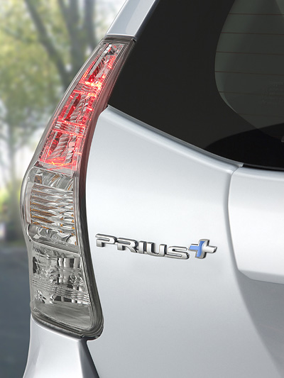 Toyota Prius Plus + Exterieur Detail statisch Heck