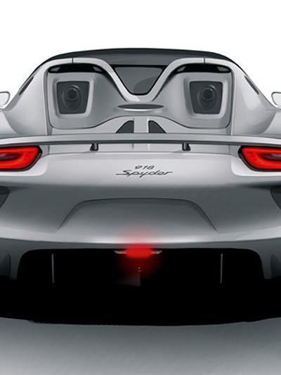 Porsche 918 Spyder Statisch Heck Exterieur