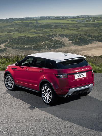 Land Rover Range Rover Evoque Exterieur Statisch seite heck